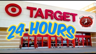 (KICKED OUT) 24 HOUR OVERNIGHT in TARGET TOILET PAPER FORT   OVERNIGHT CHALLENGE TARGET (GONE WRONG)