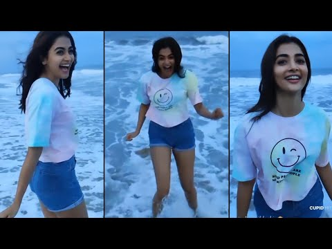 Actress Pooja Hegde shares her beach moments, adorable