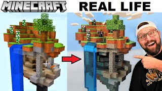 I Made an Epic MINECRAFT Floating Island (IN REAL LIFE)