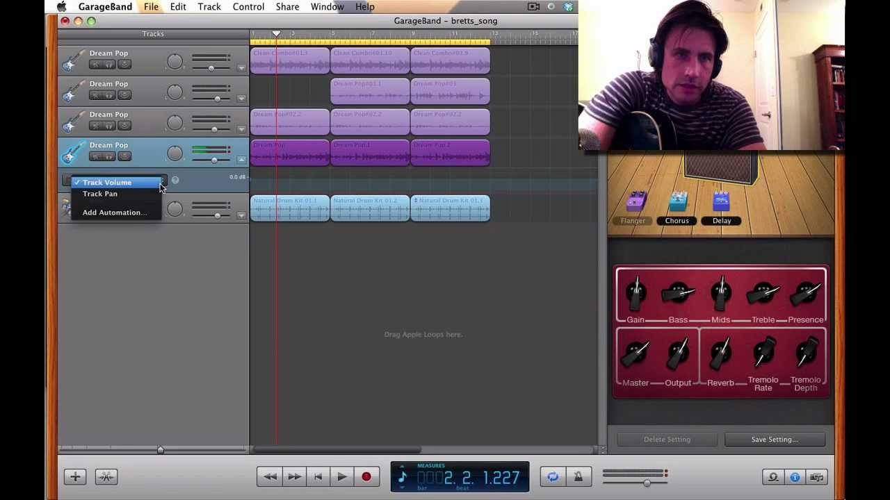 Garageband is fantastic when writing songs, here's an example why...