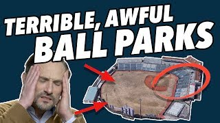 Critiquing the WORST MINOR LEAGUE Ballparks in America - More Terribad Stadiums