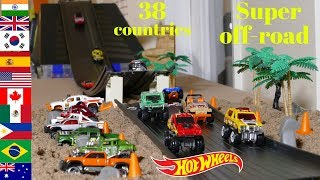 Hot Wheels Fat track world super off-road race 38 countries tournament