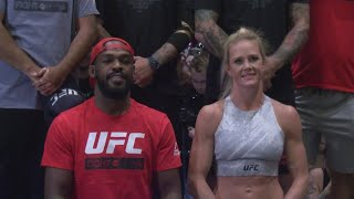 Holly Holm, Jon Bones Jones in Las Vegas ahead of UFC 239