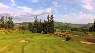 Aerial film of Gleneagles Championship Golf Courses