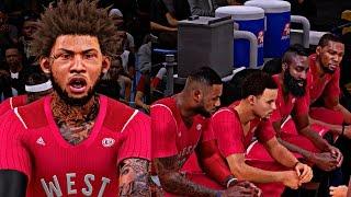 CAM LeBRON KD AND STEPH CURRY ALL ON 1 TEAM! | CRAZY ALL-STAR GAME HIGHLIGHTS - NBA 2K16 MyCAREER S3
