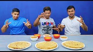 ROTI | DAL | SAMBAR | EATING CHALLENGE | SOUTH INDIAN SAMBAR AND DAL WITH ROTI