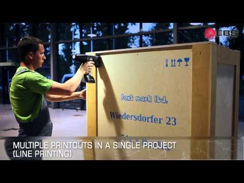 HANDJET EBS-260 - improved hand held, portable, mobile ink jet printer