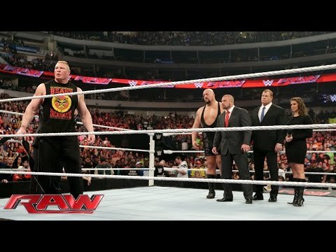 Brock Lesnar calls out Seth Rollins: Raw, January 19, 2015