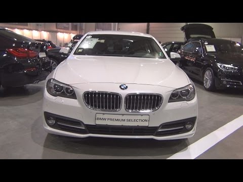 BMW 520d xDrive Sedan Mineral White (2015) Exterior and Interior in 3D