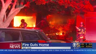 Suspicious Fire Breaks Out At San Jose Home