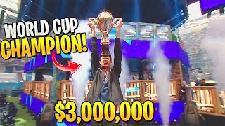 Sen Bugha *DOMINATES* And Wins Fortnite World Cup! (30 MILLION DOLLARS)
