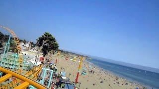 Undertow front seat on-ride HD POV Santa Cruz Beach Boardwalk