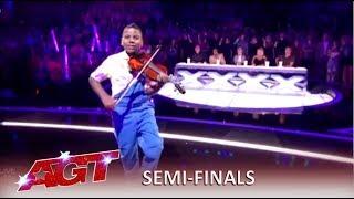 Tyler Butler-Figueroa: Simon's Golden Buzzer KILLS His Violin! | America's Got Talent 2019