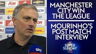 Jose's post match interview after Man City win the Premier League!   Man Utd 0-1 West Brom