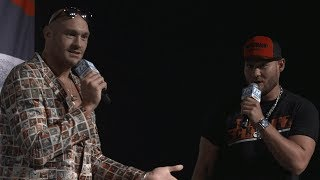 """Shall we sing a song, Tom?!"" 😂Amazing moment when Tyson Fury and Tom Schwarz first met"