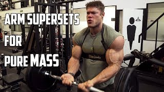 ARM SUPERSET Workout - Pumped up for the Arnold