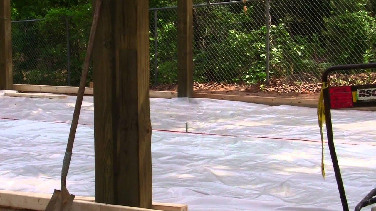 Diy Installing Concrete Slab For 20x30x10 Pole Barn Or