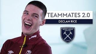 Declan Rice does HILARIOUS Robert Snodgrass impression! 😂| Declan Rice | West Ham | Teammates 2.0