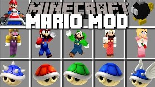 Minecraft MARIO MOD / TRAVEL TO THE MARIO DIMENSION AND FIGHT MONSTERS!! Minecraft