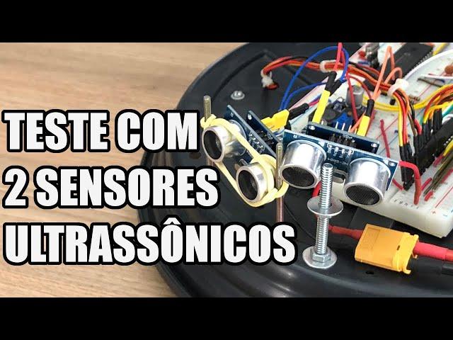 USANDO DOIS SENSORES ULTRASSÔNICOS JUNTOS! | Usina Robots US-3 #034