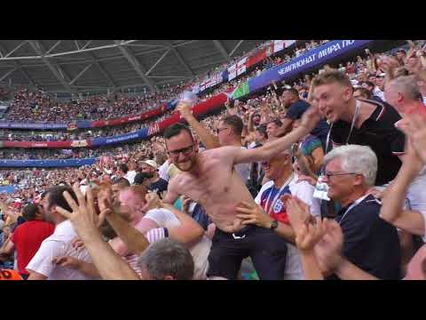⚽ England's Second Goal!!!! ⚽ vs Sweden!!! Stadium fancam action!!!!