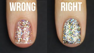 HOW TO APPLY GLITTER NAIL POLISH || KELLI MARISSA