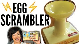 1970s ELECTRIC Egg SCRAMBLER - a spinning needle egg beater | VINTAGE Does it Work?