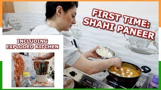 FIRST TIME INDIAN FOOD EP. 2: COOKING SHAHI PANEER RECIPE | TRAVEL VLOG IV