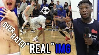 """""""OVERRATED"""" Julian Newman BREAKS ANKLES VS """"REAL"""" IMG! CROWD MOCKING HIS HEIGHT! 35 Pts"""