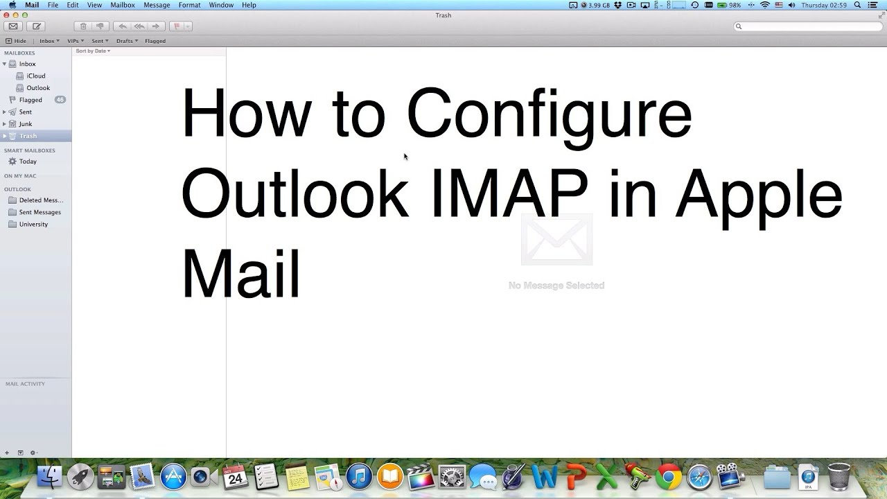 How to Configure Outlook Windows Live MSN Hotmail IMAP in ...