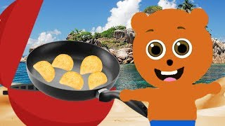 Mega Gummy bear cooking chips Cartoon Animation Nursery Rhymes