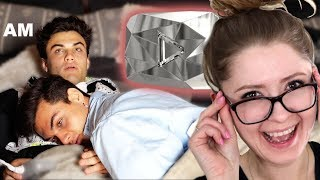 Last To Fall Asleep Gets The 10 MILLION DIAMOND PLAY BUTTON! Dolan Twins Reaction