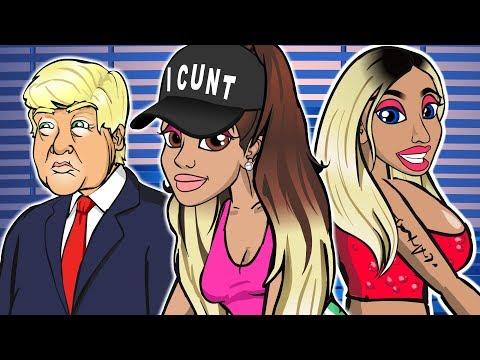 Ariana Grande ft. Nicki Minaj - Side To Side (CARTOON PARODY)