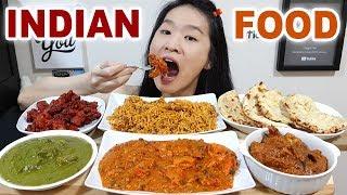 INDIAN FOOD! Chicken Tikka Masala, Mutton Biryani, Chicken Saag, Kori Kundapuri, Cheese Naan Mukbang