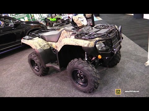 2017 Honda Rubicon TRX500 Camo Recreational ATV - Walkaround - 2016 Toronto ATV Show