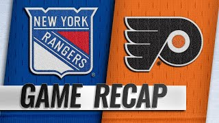 Flyers shut out Rangers to snap skid