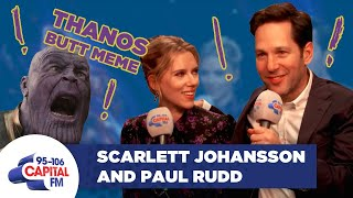 Paul Rudd Explains The Ant-Man-Thanos Butt Meme To Scarlett Johansson 🐜 | FULL INTERVIEW | Capital