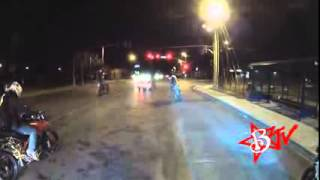 POLICE CHASE Motorcycle Riding Circle Wheelies Bike Vs Cops Stunt Bike Running From Cop Escapes
