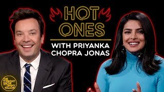 Priyanka Chopra Jonas & Jimmy Can't Sit Still While Eating Spicy Wings w/ Sean Evans (Hot Ones)