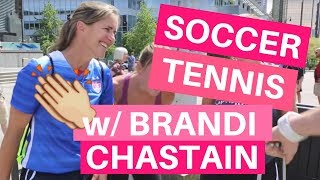 Soccer Tennis with Brandi Chastain