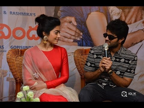 Vijay Devarakonda Comments On Rashmika | Geetha Govindham