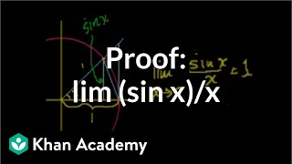 Proof: lim (sin x)/x
