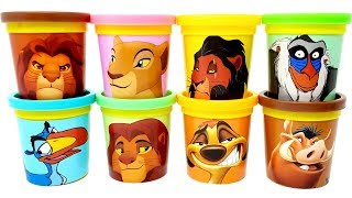 The Lion King | Mainan dan lagu anak-anak 교육으로 동요와 아기의 노래를Play-Doh Toys Learn Colors