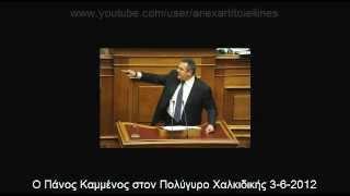 Ομιλία ΠΑΝΟΥ ΚΑΜΜΕΝΟΥ στον Πολύγυρο Χαλκιδικής 3-6-2012