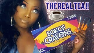 A REAL REVIEW ON THE BOX OF CRAYONS PALETTE‼️ UNBOXING&DEMO  SPARKZONDEMAND