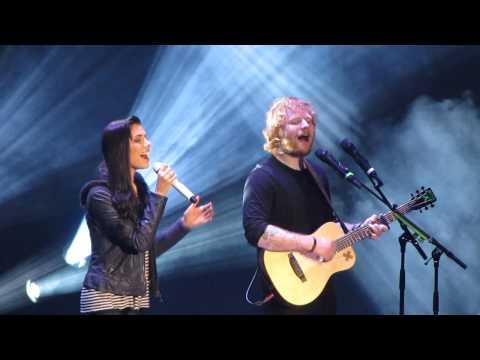Christina Perri and Ed Sheeran singing
