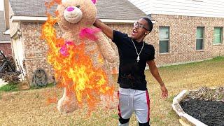 BURNING YOUR TEDDY BEAR PRANK !!!!!