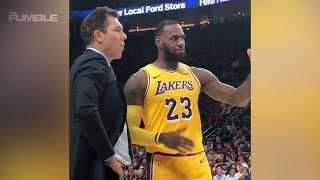 LeBron James HUMILIATES Luke Walton By COACHING During Game!