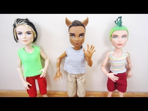 How to make shirts for Monster High male and Ken dolls