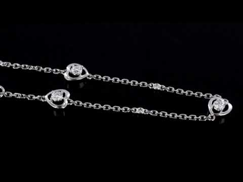 Browns Family Jewellers Heart Diamond Bracelet